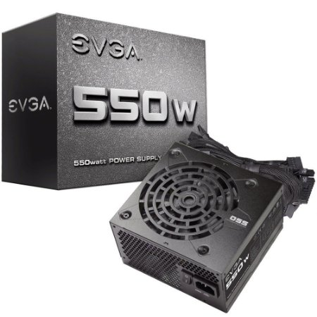 Fonte EVGA 550 N1 550W L0 - PN # 100-N1-0550-L0 ( Sem Cabo De Força )