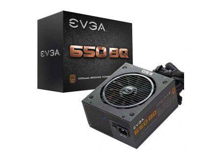 Fonte EVGA 650 BQ 80+ BRONZE 650W Semi Modular - PN # 110-BQ-0650-V1 ( Sem Cabo De Força )
