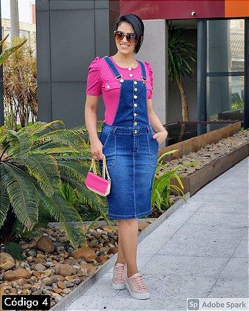 SLS004 - Jardineira *Lis Jeans com Elastano
