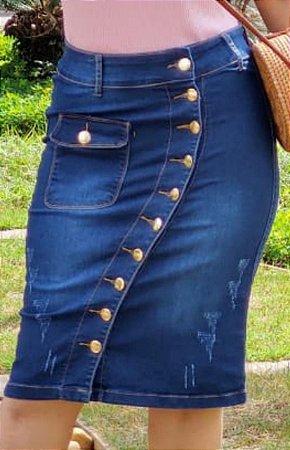 SLS029 - Saia *Larissa Jeans com Elastano