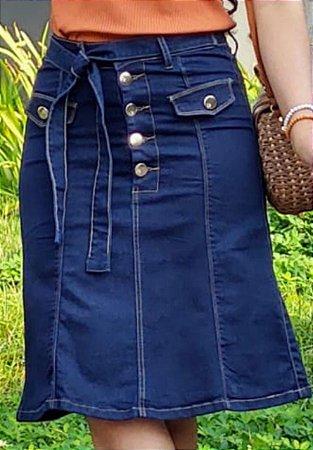 SLS029 - Saia *Lis Jeans com Elastano