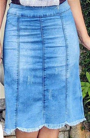 SLS014 - Saia *Penélope Jeans com Elastano