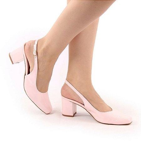 7102 - Chanel Salto bloco 6cm rose