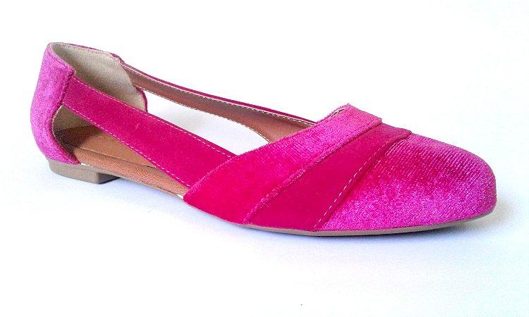 SL2020 - Sapatilha pink aveludada