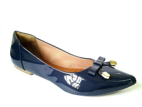 SL2020 - Sapatilha azul marinho em verniz