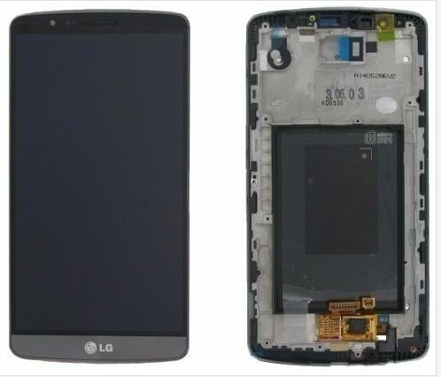 Combo Frontal Display Touch Lg Optimus G3 D855 - Preto