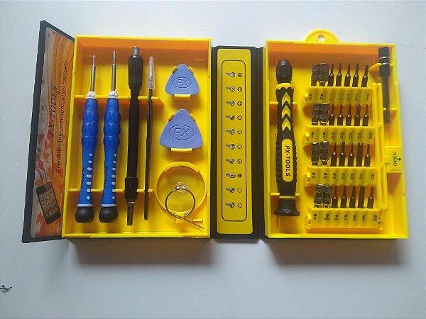 Kit Ferramentas 38 Em 1 Jogo Chaves Reparo Celular Notebook