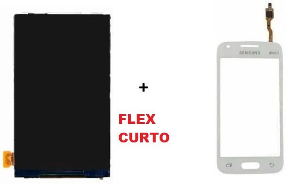 Combo Frontal Display Touch Samsung Ace 4 Sm G313 Branco Flex Curto
