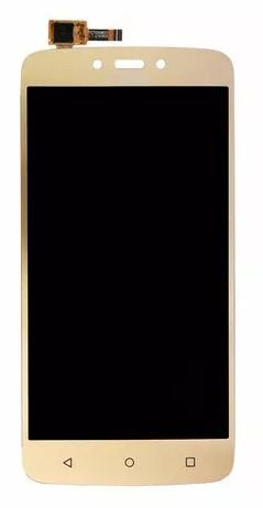 Combo Frontal Display Touch Moto C Plus xt1726 Dourado