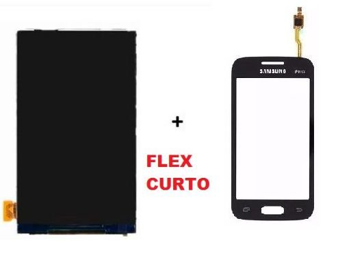 Combo Frontal Display Touch Galaxy Ace 4 Sm G316 Flex Curto Preto