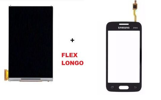 Combo Frontal Display Touch Galaxy Ace 4 Sm G316 Flex Longo Preto