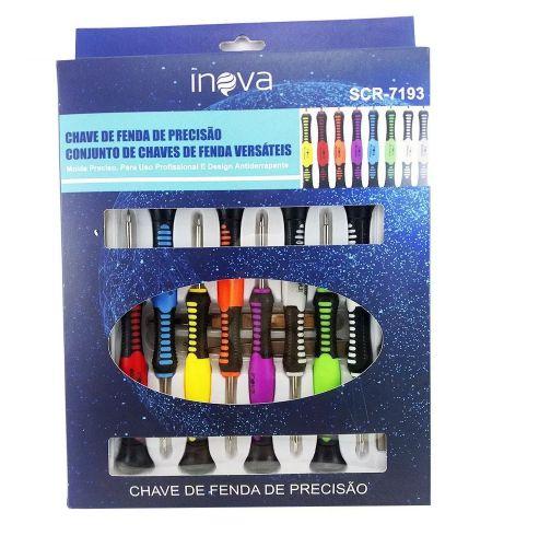 Kit Chaves De Fenda De Precisão Inova Scr-7193