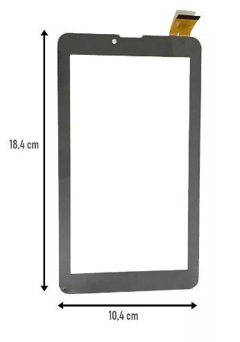 Tela Touch Vidro Tablet Multilaser M7 3g Preto