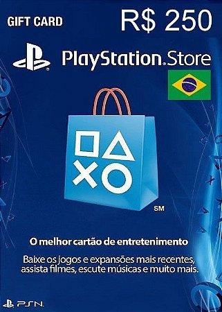 Cartão PSN Store Brasil R$250 Reais - Playstation Network Store Brasil