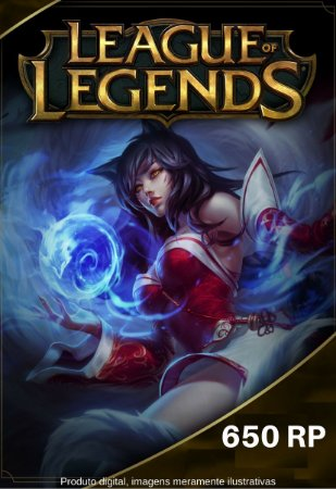 Cartão Presente League Of Legends 650 RP - LOL Riot Points