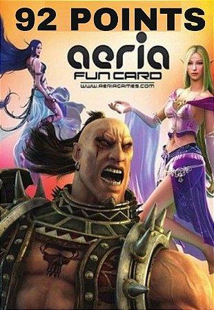 Cartão Presente Aeria Games - 92 Aeria Points