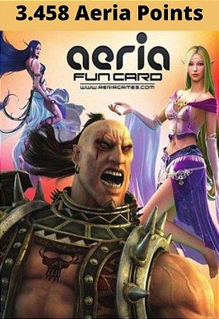 Cartão Presente Aeria Games - 3458 Aeria Points