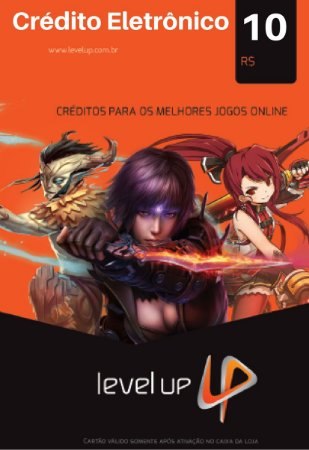 Cartão Level Up Games R$10 Reais - Cash Level Up Game Card