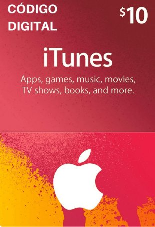 Gift Card Apple $10 Dólares - iTunes Gift Card USA