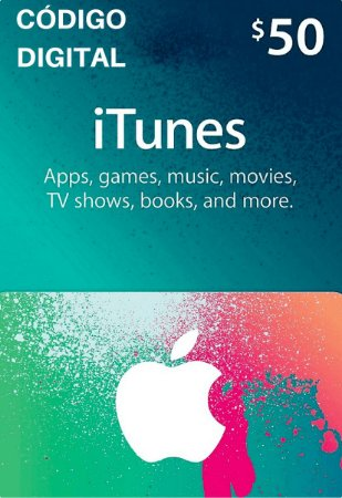 Gift Card Apple $50 Dólares - iTunes Gift Card USA