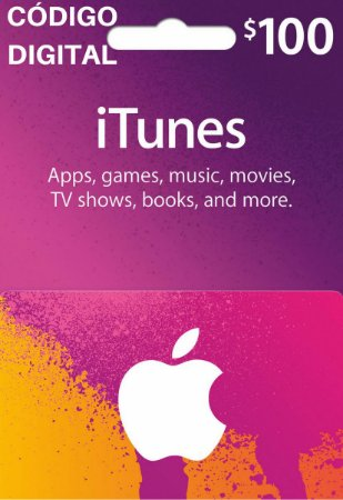 Gift Card Apple $100 Dólares - iTunes Gift Card USA