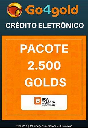 Crédito Go4Gold Boa Compra 2.500 Créditos Gold