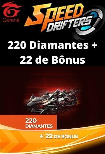 Speed Drifters - 220 Diamantes + 22 de Bônus [Recarga]