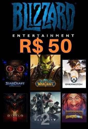 Cartão Saldo Battle.net R$50 Reais - Blizzard