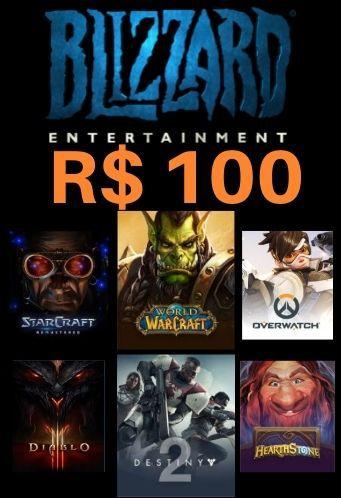 Cartão Saldo Battle.net R$100 Reais - Blizzard