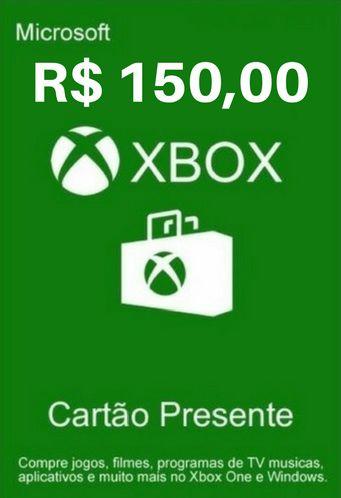 Cartão Presente Xbox Live R$150 Reais - Microsoft Gift Card
