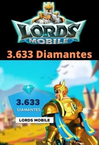 Lords Mobile 3.633 Diamantes - Android