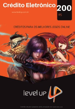 Cartão Level Up Games R$200 Reais - Cash Level Up Game Card