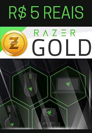 Cartão Razer Gold Pré-Pago R$5,00 Reais - Rixty Prepaid Game Card