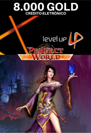 Perfect World 8.000 Gold - Level Up Cartão Pré Pago