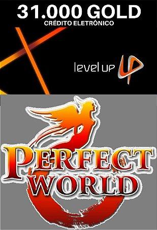 Perfect World 31.000 Gold - Level Up Cartão Pré Pago