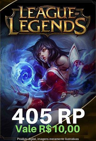 Cartão Presente League Of Legends 405 Riot Points - LOL Riot Points