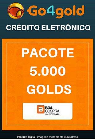 Crédito Go4Gold Boa Compra 5.000 Créditos Gold