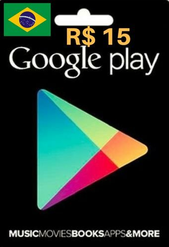 Cartão Google Play R$15 Reais - Play Store Gift Card Brasil
