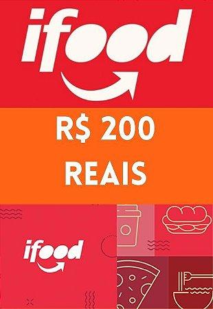Vale Cartão Presente - iFood Card 200 Reais