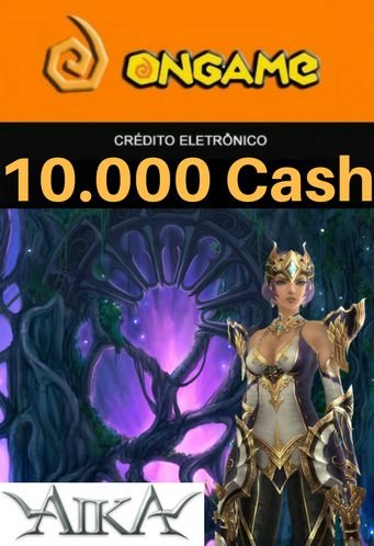 Cartão Aika - 10.000 Cash - Aika 10k Ongame