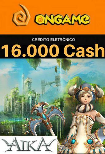 Cartão Aika - 16.000 Cash - Aika 16k Ongame