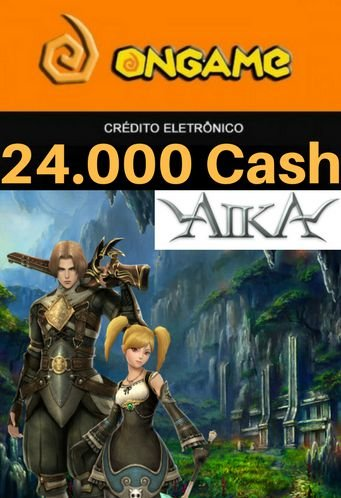 Cartão Aika - 24.000 Cash - Aika 24k Ongame