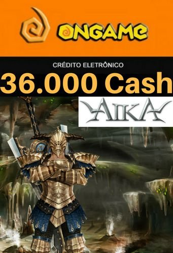 Cartão Aika - 36.000 Cash - Aika 36k Ongame