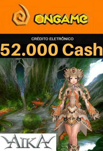 Cartão Aika - 52.000 Cash - Aika 52k Ongame