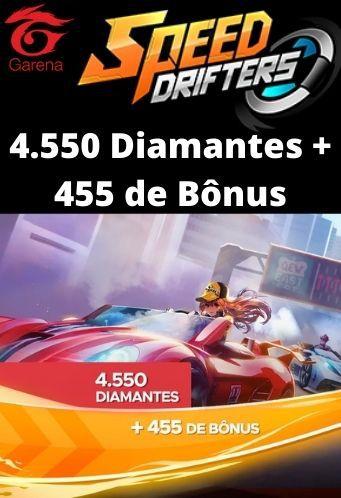 Speed Drifters - 4.550 Diamantes + 455 de Bônus [Recarga]