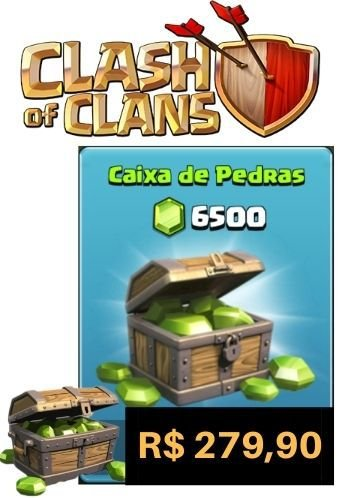 Gemas Clash Of Clans 6500 Gemas - Cartão Google Play Store