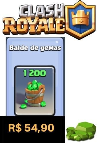 Cartão Clash Royale 1200 Gemas - Google Play Brasil
