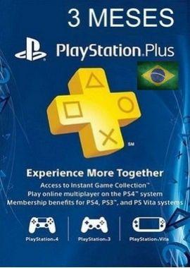 Assinatura PSN Brasil 3 Meses Cartão de Ativação PSN Plus Br