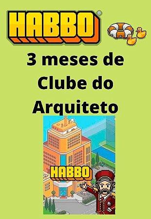 Habbo Hotel - 3 meses de Clube do Arquiteto
