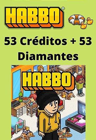 Habbo Hotel - 53 Créditos + 53 Diamantes